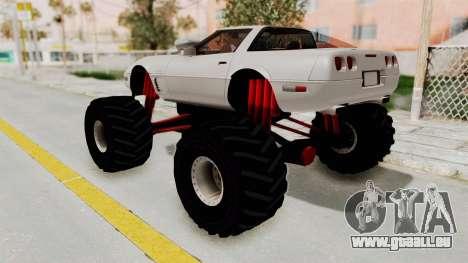 Chevrolet Corvette C4 Monster Truck pour GTA San Andreas vue de droite