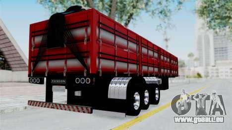 Kenworth T800 Carreta de Arena pour GTA San Andreas laissé vue