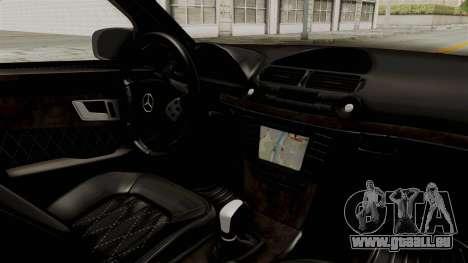 Mercedes-Benz E320 für GTA San Andreas Innenansicht