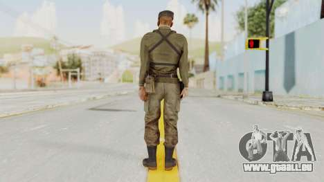 MGSV Phantom Pain Rogue Coyote Soldier Shirt v2 für GTA San Andreas dritten Screenshot