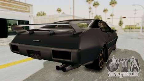 Clover Tunable pour GTA San Andreas sur la vue arrière gauche