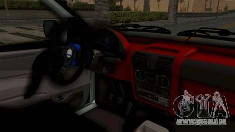Chevrolet Corsa Wagon Tuning für GTA San Andreas Innenansicht