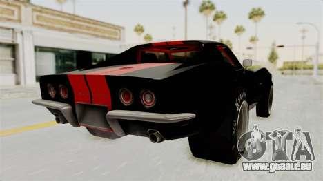 Chevrolet Corvette Stingray C3 1968 Drag für GTA San Andreas linke Ansicht