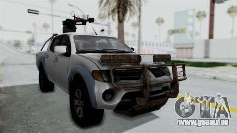 Mitsubishi L200 Army Libyan pour GTA San Andreas vue de droite