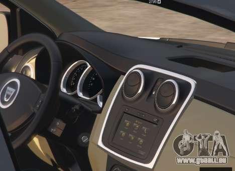 GTA 5 Dacia Sandero Stepway 2014 rechte Seitenansicht