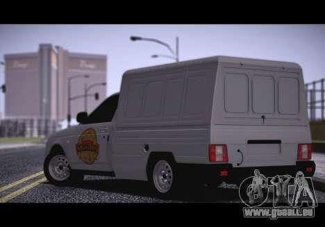 Lada Priora Stok Budka pour GTA San Andreas laissé vue