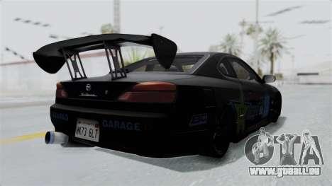 Nissan Silvia S15 RDT pour GTA San Andreas sur la vue arrière gauche