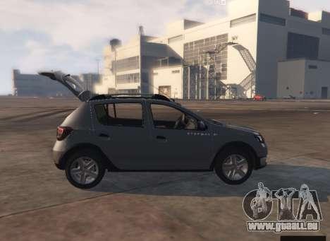 GTA 5 Dacia Sandero Stepway 2014 Rückansicht