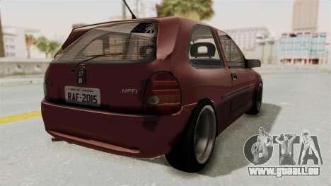 Chevrolet Corsa Hatchback Tuning v1 pour GTA San Andreas vue de droite
