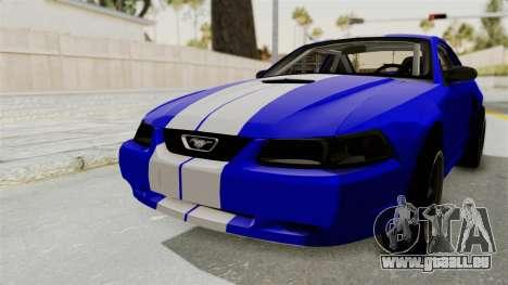 Ford Mustang 1999 Drag pour GTA San Andreas sur la vue arrière gauche