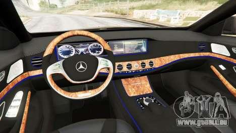 GTA 5 Mercedes-Benz S500 arrière droit vue de côté