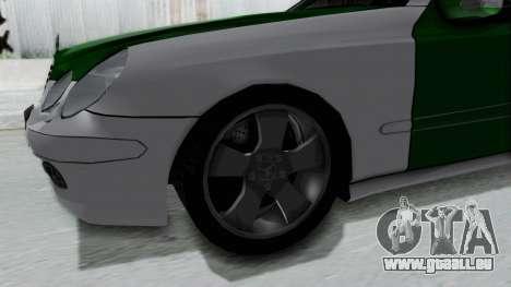 Mercedes-Benz E500 Police pour GTA San Andreas vue arrière