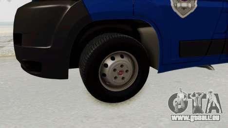 Fiat Ducato Police für GTA San Andreas Rückansicht