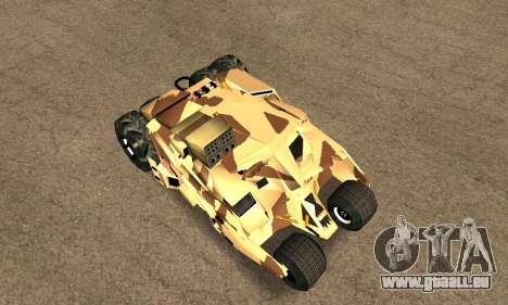 Army Tumbler Rocket Launcher from TDKR pour GTA San Andreas vue arrière