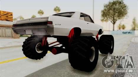 Pontiac GTO Tempest Lemans 1965 Monster Truck pour GTA San Andreas laissé vue