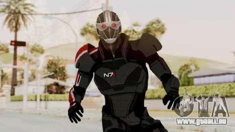 ME2 Shepard Default N7 Armor Recoon Hood Helmet für GTA San Andreas