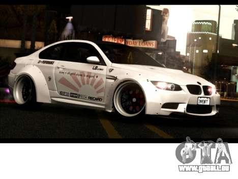 BMW M3 E92 Liberté à Pied LB Performance pour GTA San Andreas
