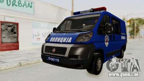 Fiat Ducato Police für GTA San Andreas rechten Ansicht
