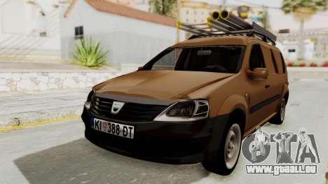 Dacia Logan MCV Van pour GTA San Andreas sur la vue arrière gauche