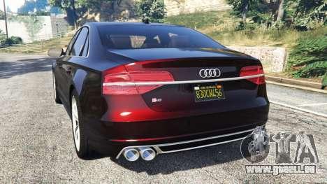 GTA 5 Audi S8 W12 2016 hinten links Seitenansicht