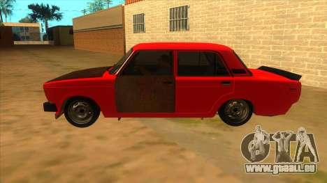 VAZ 2105 de Combat Classiques pour GTA San Andreas laissé vue
