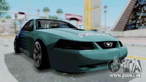 Ford Mustang 1999 Drift Falken für GTA San Andreas rechten Ansicht