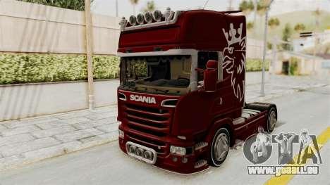 Scania R730 pour GTA San Andreas vue de droite