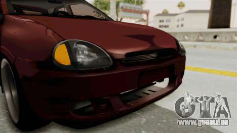 Chevrolet Corsa Hatchback Tuning v1 pour GTA San Andreas vue de dessus