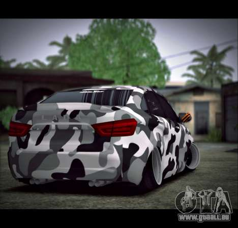 Lada Vesta Camouflage pour GTA San Andreas laissé vue