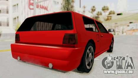 Flash Sport pour GTA San Andreas laissé vue