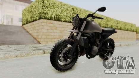 Mad Max Inspiration Bike für GTA San Andreas zurück linke Ansicht