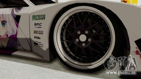Mazda RX-7 FC Itasha pour GTA San Andreas vue arrière