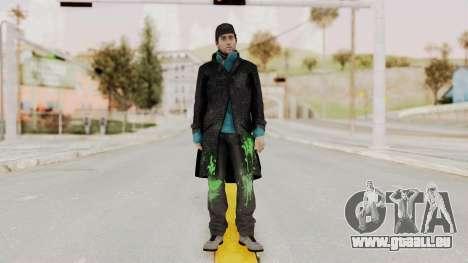 Watchdogs Aiden Pierce DedSec Outfit für GTA San Andreas zweiten Screenshot