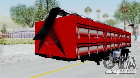 Kenworth T800 Carreta de Arena pour GTA San Andreas vue de droite