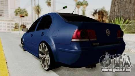 Volkswagen Bora 1.8T pour GTA San Andreas laissé vue