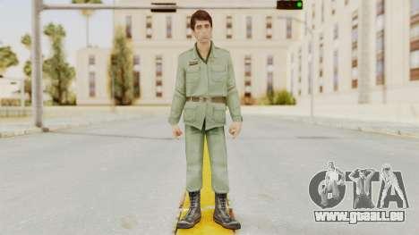 Scarface Tony Montana Army Costume pour GTA San Andreas deuxième écran