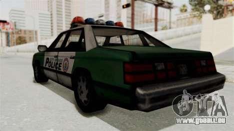 GTA VC Police Car pour GTA San Andreas vue de droite