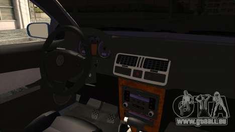 Volkswagen Bora 1.8T pour GTA San Andreas vue intérieure