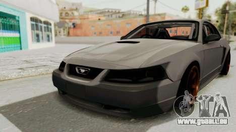 Ford Mustang 1999 Drift für GTA San Andreas rechten Ansicht