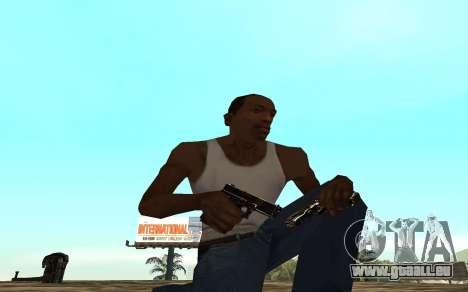 Golden weapon pack für GTA San Andreas dritten Screenshot