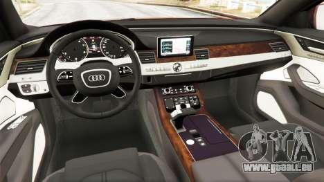GTA 5 Audi S8 W12 2016 hinten rechts