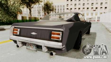 Dominator Classic für GTA San Andreas zurück linke Ansicht