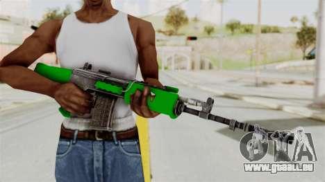 IOFB INSAS Dark Green für GTA San Andreas dritten Screenshot