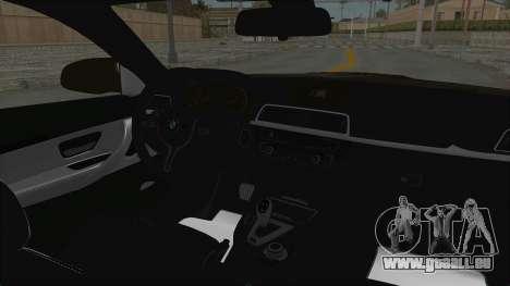 BMW M4 Kurumi Itasha pour GTA San Andreas vue intérieure