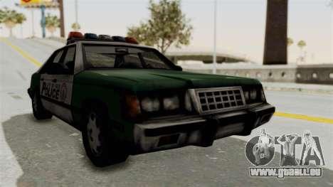 GTA VC Police Car pour GTA San Andreas sur la vue arrière gauche