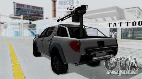 Mitsubishi L200 Army Libyan pour GTA San Andreas laissé vue