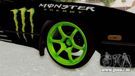 Nissan 240SX Drift Monster Energy Falken für GTA San Andreas Rückansicht