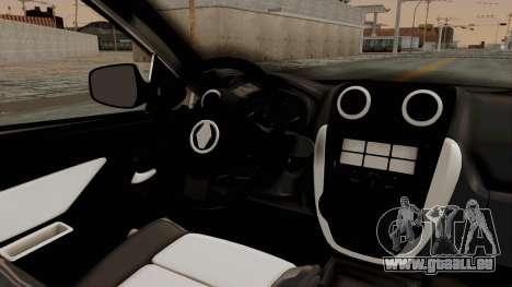 Renault Symbol 2015 für GTA San Andreas Innenansicht