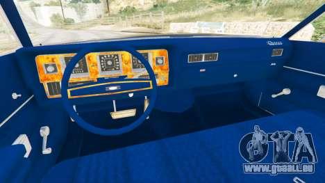 GTA 5 Mercury Monterey 1972 arrière droit vue de côté