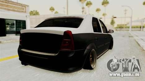 Dacia Logan Facelift Stance für GTA San Andreas linke Ansicht